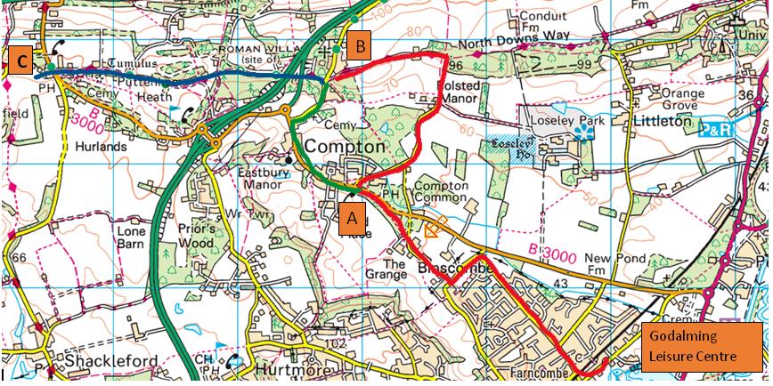 Broadwater to Puttenham